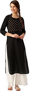 Desi Fusion Women's Cotton Straight Kurta