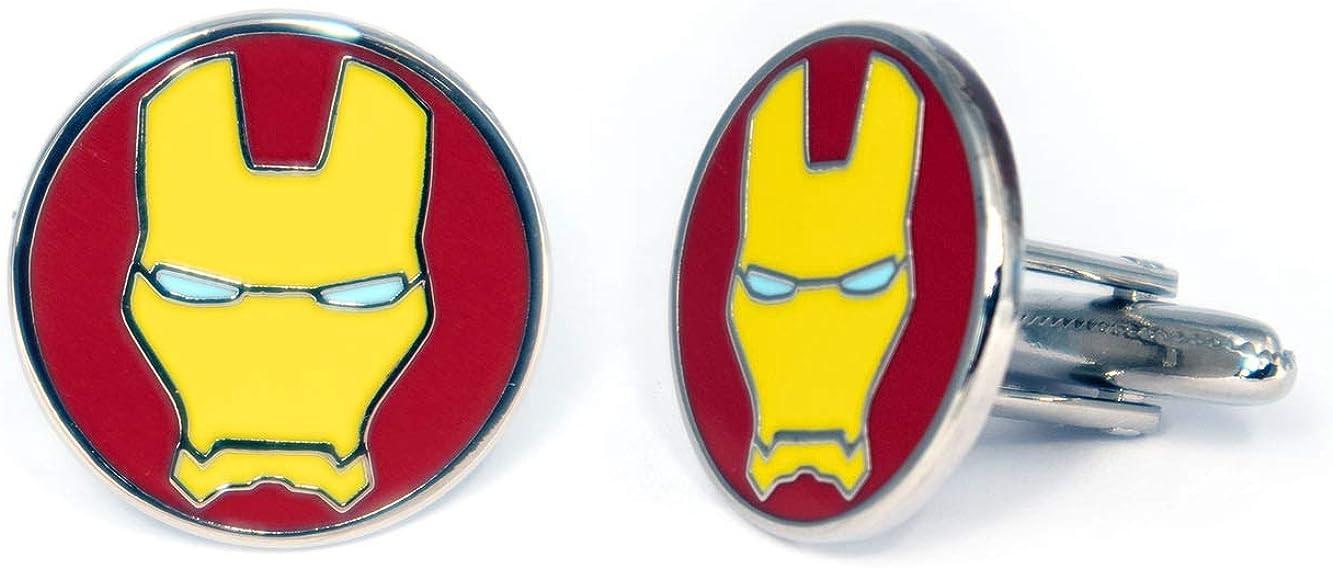 SharedImagination Iron Man Minimalist Cufflinks, Avengers Ironman Tie Clip, Arc Reactor Jewelry, Marvel Captain America Tie Tack, Cuff Links Wedding Party Groomsmen Gift