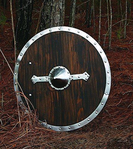 Museum Replicas Viking Shield Steel and Dark Brown by Windlass