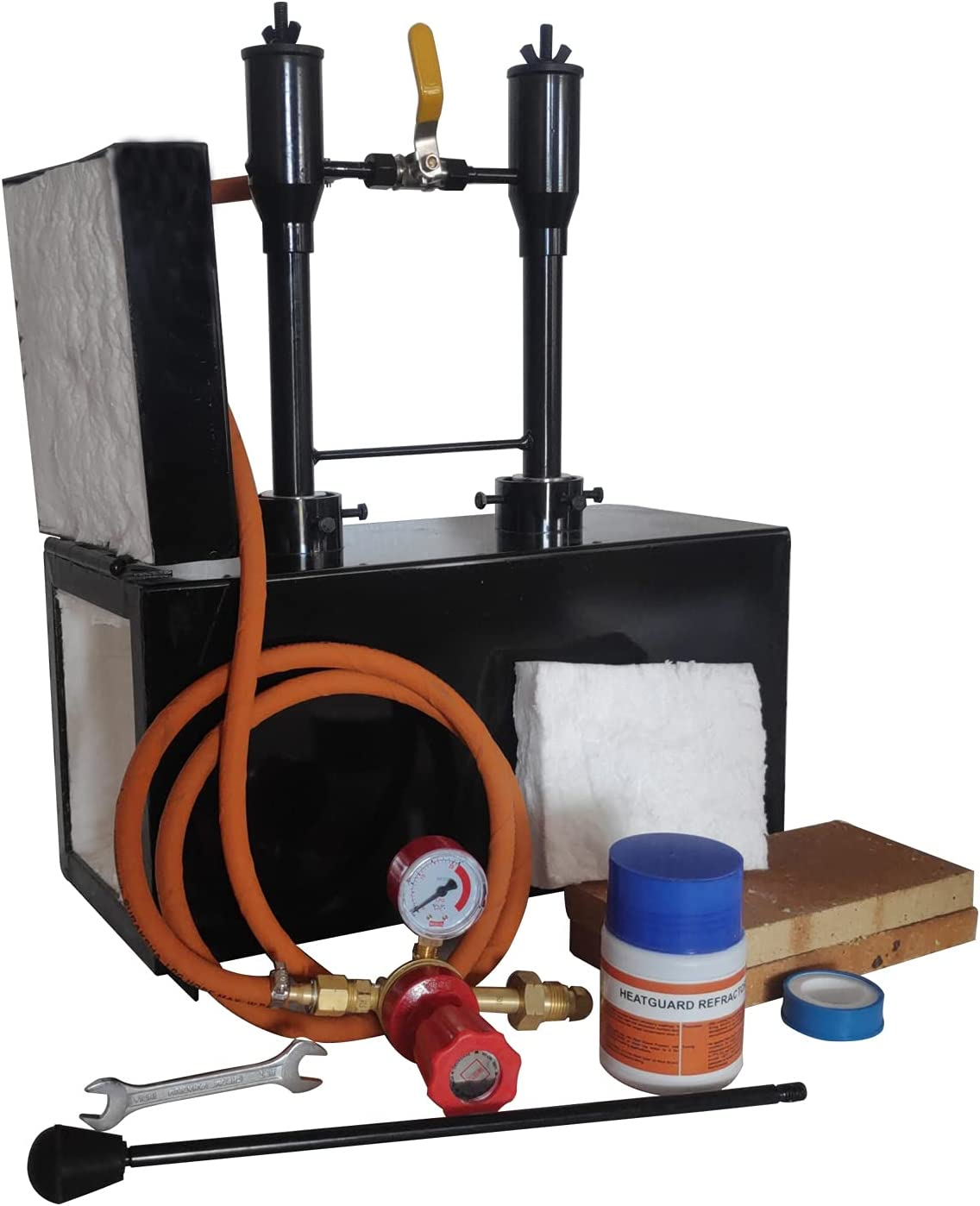 HYTECH Products Double Burner Blacksmithing Great interest Prop Forge w Ranking TOP9 1 Door