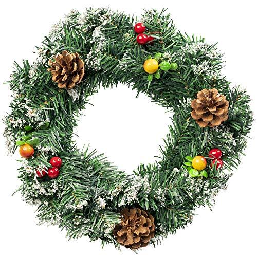Corona Natale Per Porta Ghirlanda Di Natalizie Decorativa 30cm - L'accessorio Perfetto Per Creare Un Ambiente Festivo