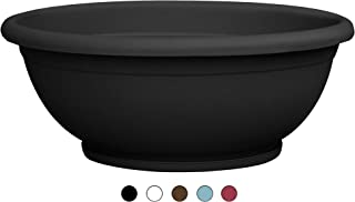 TABOR TOOLS Plastic Planter Bowl, Garden Bowl for Indoor and Outdoor Use, Round. VEN303A. (12