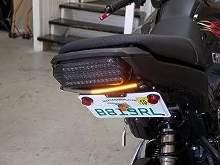 Tucked LED Light Bar Fender Eliminator Kit with LED Flasher Relay for 2014-2015 Honda Grom MSX125 - Integrated Brake and Turn Signals, Smoked Lens