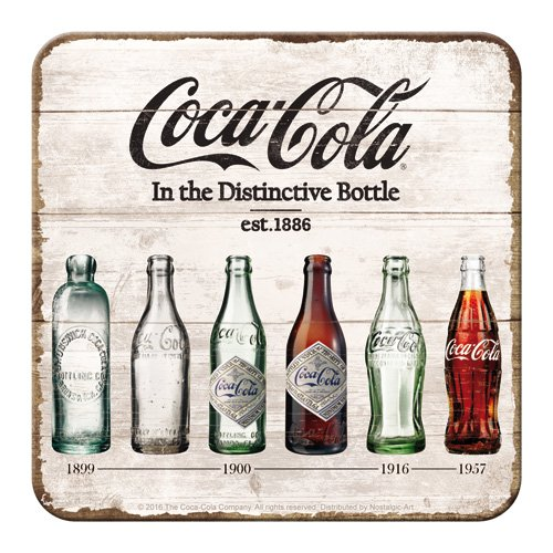 Nostalgic-Art 46141 Coca-Cola Bottle Timeline, Dessous de Verre