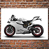 Superbike Ducatis 899 Muscle Motorcycles Vehicle Wall Art Poster Canvas Art Printed Paintings for Room Decor 60x90cm No Frame