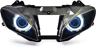 KT LED Angel Eye Headlight Assembly for Yamaha R6 2008-2016 V1 White