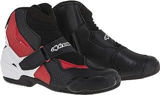 Alpinestars Men`s SMX-1 R Vented Street Motorcycle Boot, Black/White/Red, 50