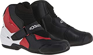 Alpinestars SMX-1 R Vented Boots (42) (Black/White/RED)