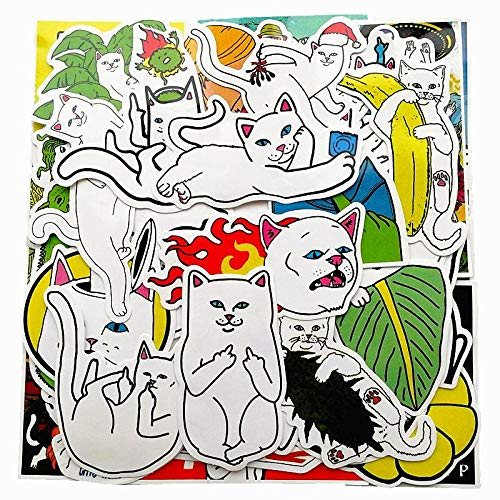 LLTZD 50-delig / Los Graffiti Stickers Grappige Scrapbooking Gitaar Cool Rip N Dip Motorfiets Skateboard waterdichte sticker