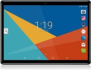 アンドロイド7.0 Nougatタブレット10インチガラススクリーンデュアルSIMカードスロットOcta Core 3Gロック解除電話タブレット4GB RAM 64GB ROM内蔵Bluetooth GPS Netflix (メタルブラック)