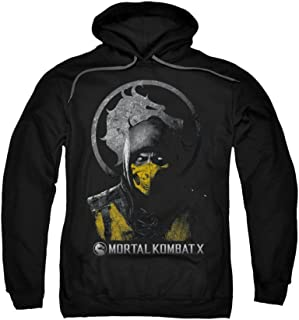Mortal Kombat X Scorpion Bust Adult Pull-over Hoodie