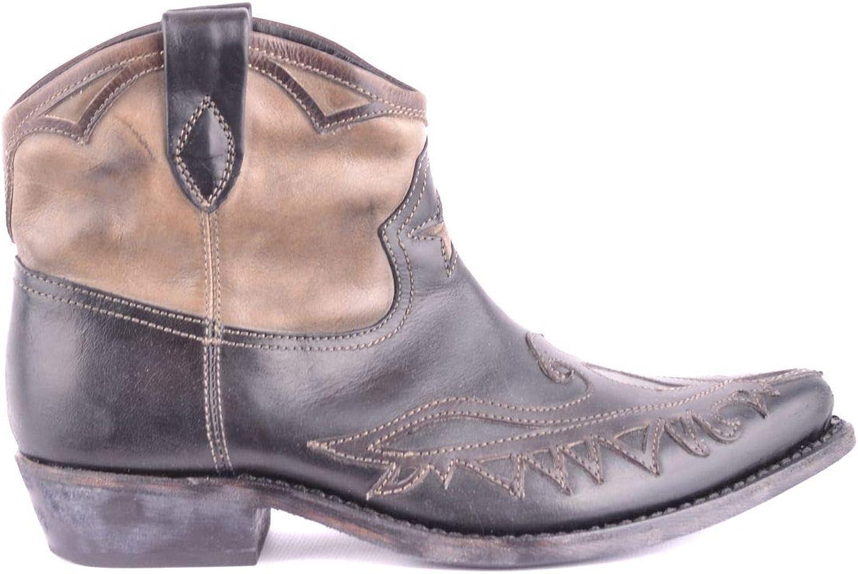 MATERIA PRIMA BY GOFFREDO FANTINI Women's MCBI33424 Black Leather Ankle Boots