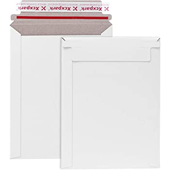 Xxcxpark 25 Pack Rigid Mailers 6 x 8 Inches, Self Seal Photo Document Mailers Premium Cardboard Keep Flat Envelopes for Photos, Pictures, Papers, Files, CD
