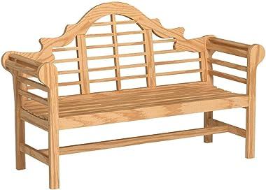 Cambridge Casual Solid Wood Lutyens 5' Garden Bench, 5-Foot, Natural Teak