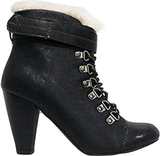 Spot on F9R192 Femme Noir Talon et Lacets Chaussure R23B