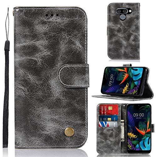 Capa para LG K12 Max da J&H, capa carteira para LG K12 Max, capa de couro sintético vintage com fecho magnético para LG K12 Max de 6,26 polegadas