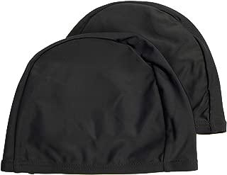 Easyglide 2 Pack Spandex Swimming caps for Lyrca Fabric Adult Junior Kids childen Swim hat
