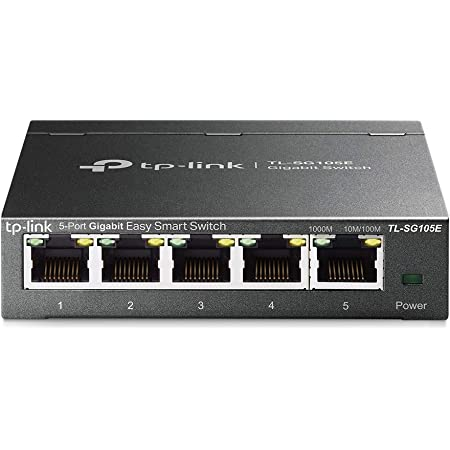 TP-Link ハブ アンマネージプロスイッチ 5ポート TL-SG105E 10/100/1000Mbps ギガビット 管理機能付 無償永久保証
