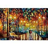 Ingooood Rainy Night Walk Puzzle de Madera 1000 Piezas