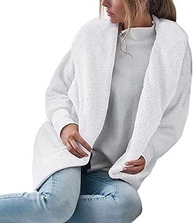 Womens Fleece Fuzzy Jacket Casual Shaggy Oversized Hooded Coat Outwear