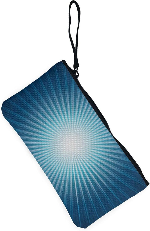 AORRUAM Starburst Canvas Coin Purse,Canvas Zipper Pencil Cases,Canvas Change Purse Pouch Mini Wallet Coin Bag