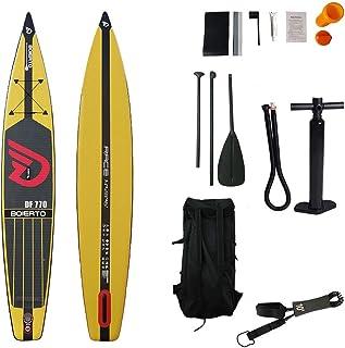 Tabla de surf inflable Carreras al aire libre Todo el tablero inflable redondo SUP Stand Up Paddle Pad con Pad Pad, bomba, mochila, correa, kits de reparación Tabla para principiantes de surf antidesl