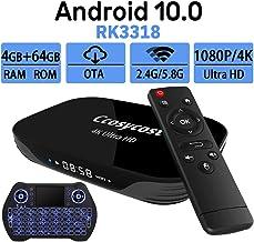 Android TV Box 10.0 4GB RAM 64GB ROM Set Top Box Smart TV Box RK3318 USB 3.0 1080P Ultra..