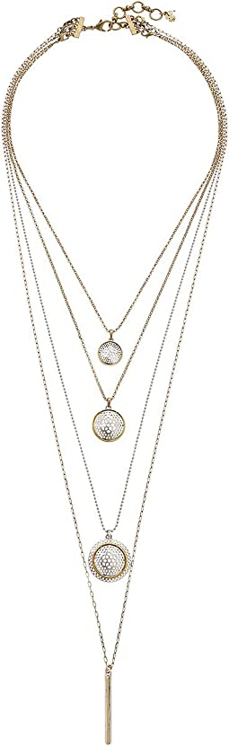 Lucky Brand - Openwork Tiered Layer Necklace