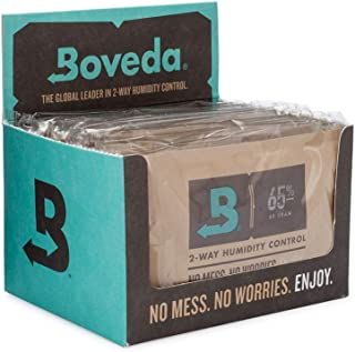 Boveda for Cigars/Tobacco | 65% RH 2-Way Humidity Control | Size 60 for Use with Every 25 Cigars a Humidor Can Hold | Pate...