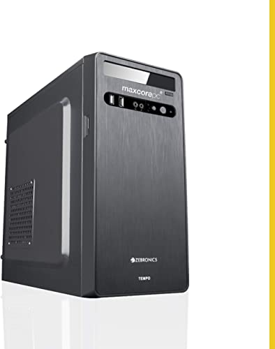 MAXCOREPC Trident MT581 Intel Core i5 650 Assembled Desktop PC CPU (8GB RAM/1TB HDD/WiFi Ready/HDMI/Windows 10 Pro/Bl...