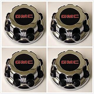 19301601 US Fast Shipment 20941999 G009 Gosweet 4X Brand NEW Four Pieces Brushed Wheel Center Hub Caps for 2014 2015 2016 2017 GMC Yukon Yukon XL Sierra 1500 Denali 3.25 83mm22837060