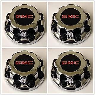 Replacement G008 Gosweet 4X Four Pieces TRUCK VAN Wheel Caps For GMC Sierra Savanna Yukon 2500 3500 Silver 8-lug Wheel Center Hub Caps 15006332 US Fast Shipment