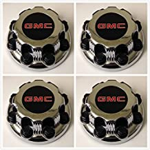 Replacement G008 Gosweet 4X Four Pieces TRUCK VAN Wheel Caps For GMC Sierra Savanna Yukon 2500 3500 Silver 8-lug Wheel Center Hub Caps 15006332 US Fast Shipment