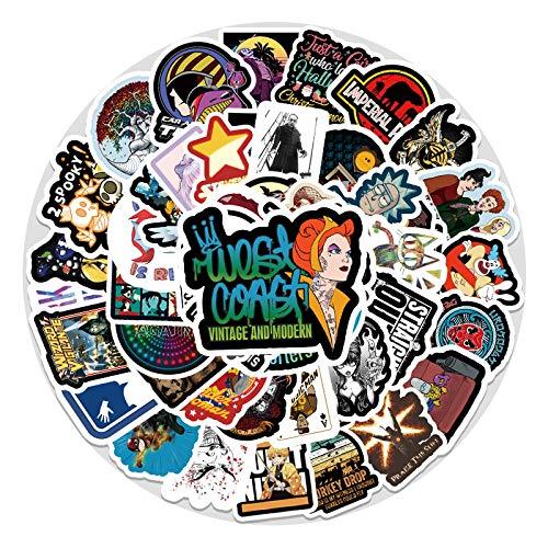 WYZNB 50 unids Trend Personality Sticker Pascua Boy Girl Creative Diy Regalo Portátil Scooter Decoración Impermeable Dibujos Animados Graffiti Vinilo Pegatina