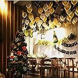 Zhongke-Geburtstags-Party-Dekorationen Glückliche Geburtstags-Fahnen-Girlande mit, Gold Alles Gute zum Geburtstag Schwarze Gute zum Geburtstag kennzeichnet Fahne, 50pcs Perlen-Ballone