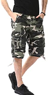 Zimaes Men Fashion With Pockets Casual Loose Camo Premium Cargo Shorts
