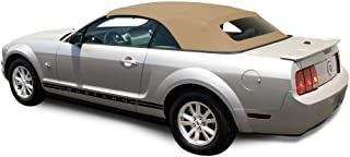 AutoBerry Ford Mustang (2005-2014) Complete Factory Style Convertible Top, Heated Glass Window in Sailcloth Vinyl Camel