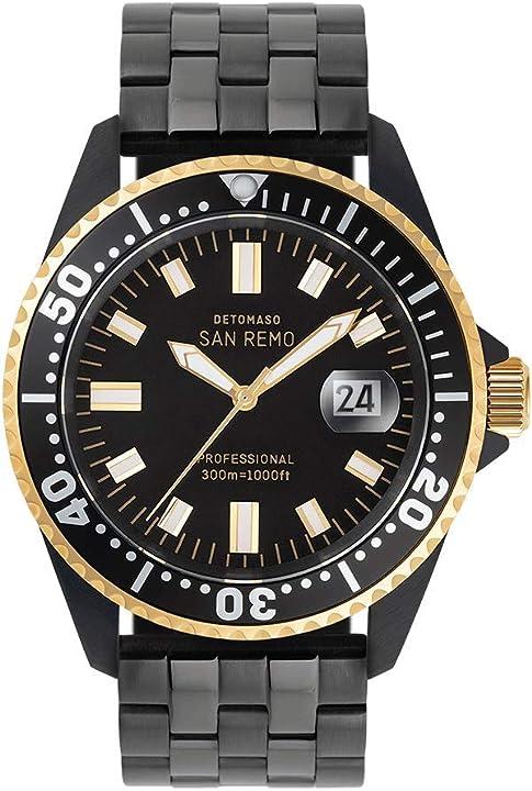 Orologio subacqueo da uomo detomaso san remo d05-02-01  - automatico, analogico, cassa in acciaio inox nero