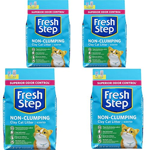 Price comparison product image Fresh Step Non Clumping Clay Cat Litter, Scented, 14 lbs 4