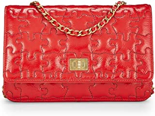 Red Patent Leather Reissue Puzzle Wallet on Chain (WOC) (Pre-Owned)