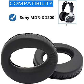 Protein Leather Ear Pads Cups Cushions for Sony MDR-XD200 MDR XD200 Stereo Headphones Earpads Replacement Foam Pillow