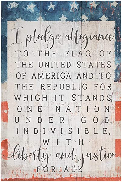 Simply Said INC Rustic Pallets 16 X 10 75 Wood Sign I Pledge Allegiance To The Flag