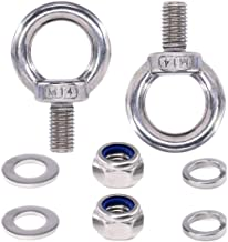 10Pcs Lock Washers and 10Pcs Flat Washers,Lock Washers Finderomend 36Pcs 304 Stainless Steel M8 Male Thread Shoulder Lifting Ring Eye Bolt with 10Pcs Lock Nuts