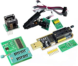 AiTrip EEPROM BIOS USB Programmer CH341A + SOIC8 Clip + 1.8V Adapter + SOIC8 Adapter For 24 25 Series Flash