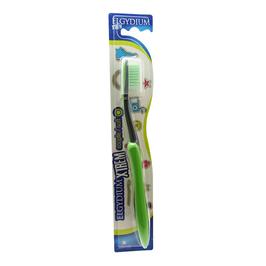 蓄積する起きて赤字Elgydium Xtrem Toothbrush Soft Hardness [並行輸入品]