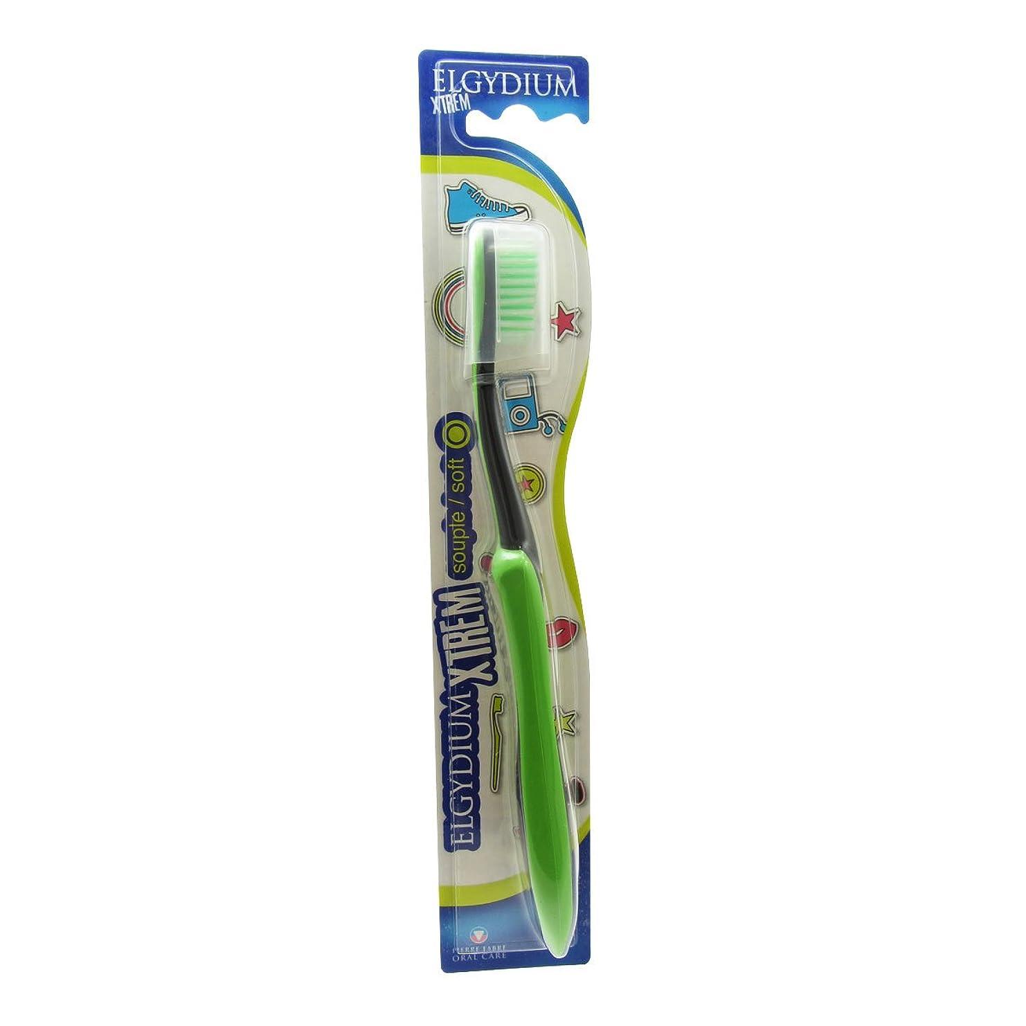 ばか舗装火傷Elgydium Xtrem Toothbrush Soft Hardness [並行輸入品]