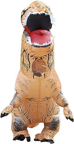 DMMASH Traje De Cosplay Inflable De Disfraces De Dinosaurio Partido,marrón