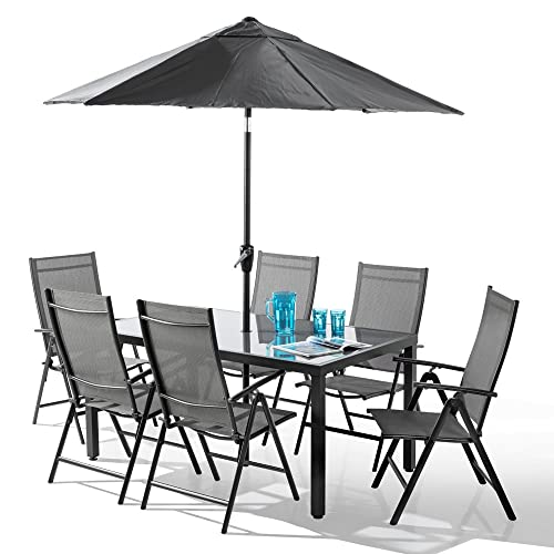 Peachy 6 Seater Garden Table And Chairs Amazon Co Uk Home Remodeling Inspirations Cosmcuboardxyz