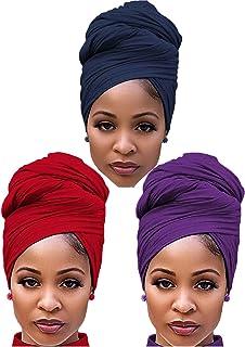 طقم اربطة شعر من هارووم من 3 قطع من هاروم للنساء، اوشحة رأس طويلة من جيربان جيربان جيرسيه