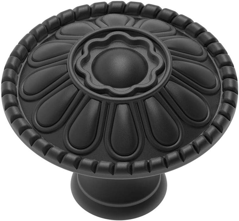 4-Pack of Matt Max 54% OFF Black Kitchen Cabinet Knobs Round Matte Pulls New popularity Fa